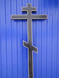 крест на могилу Сосна 7 черная