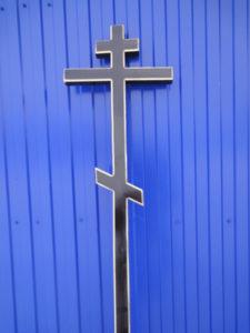 крест на могилу Сосна 5 черная